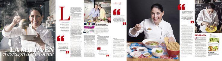 """Entrevista a Zahie Téllez Neme para la revista Gloss Mazatlán """"La milpa en el corazón de su cocina Por Ariel Noriega Fotos Cortesía"""