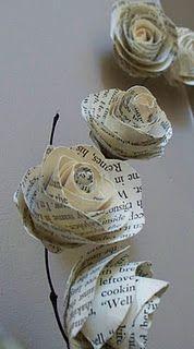 Vintage Paper Flower Tutorial