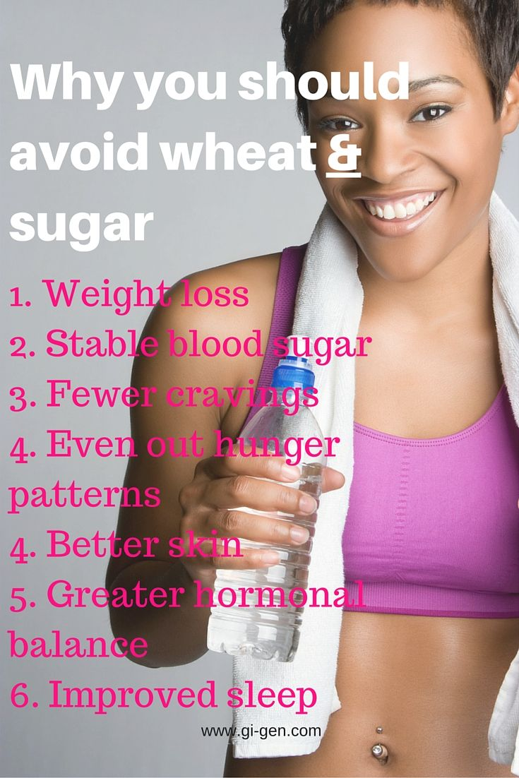 http://www.gi-gen.com/the-9-benefits-of-a-no-wheat-and-no-sugar-diet/  Reasons why you should go #wheatfree AND #sugarfree at the same time. It's working for me!