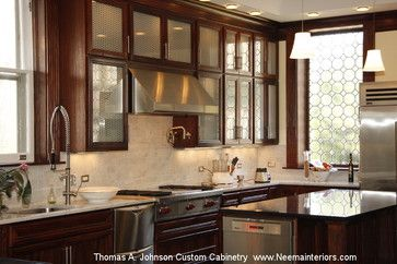 Thomas A. Johnson Custom Kitchen Cabinetry- Mahogany traditional cabinet and drawer organizers