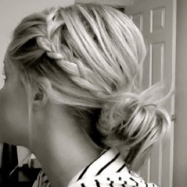 messy braid bun ;*