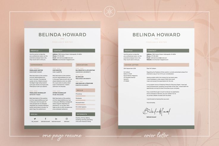Resume/CV | Belinda by Keke Resume Boutique  on @creativemarket Professional Resume Template | CV Template | Resume Advice | Cover Letter | Word (Mac or PC) | Instant Digital Download