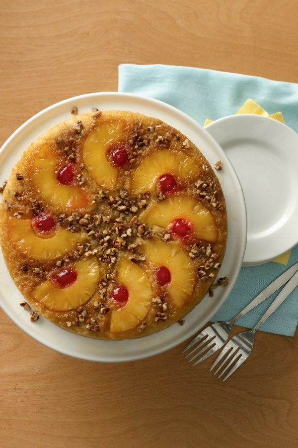This classic Quick Pineapple Upside-Down Cake recipe has been a hit with Bisquick fans since the 50's and is still loved today!