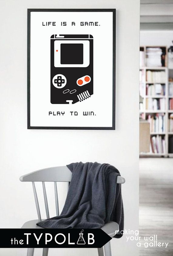 Typography Poster Art Print/ Life is a Game. Play to by theTypolab