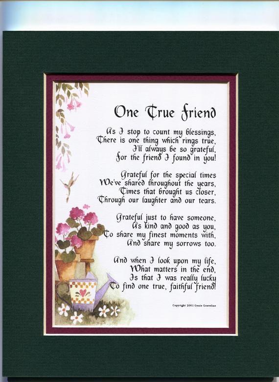 Best Friend Gift Friend Poem Friend Print Friend Verse Etsy In 2020 30th Wedding Anniversary Gift Anniversary Gifts For Parents Anniversary Poems