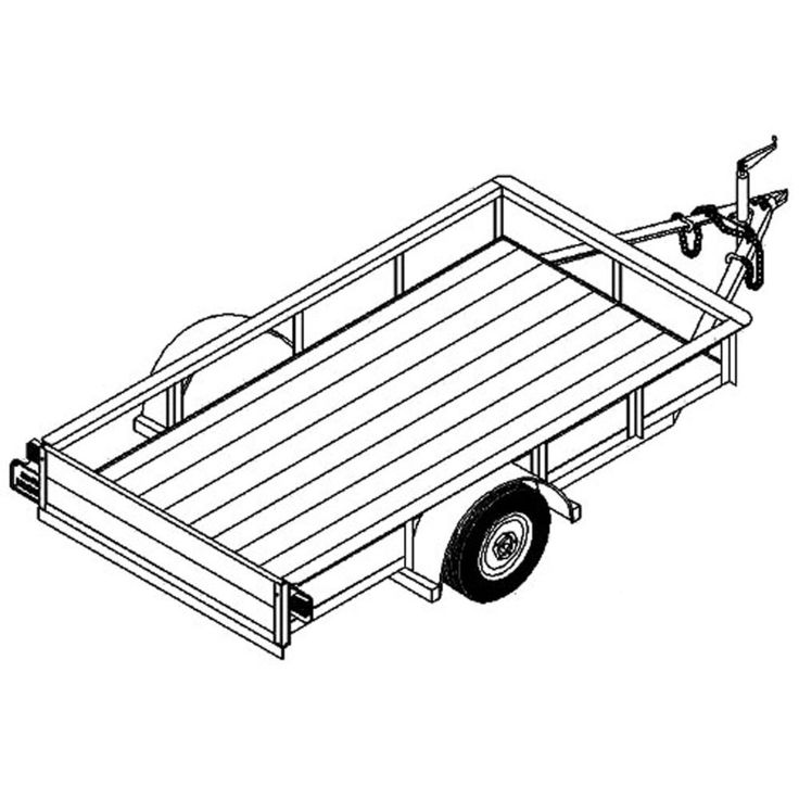 best 25  4x8 utility trailer ideas on pinterest