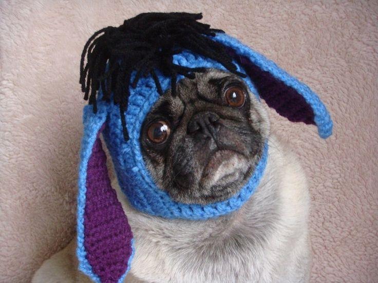dogs+crochet | Eeyore Pug | Crochet for Dogs