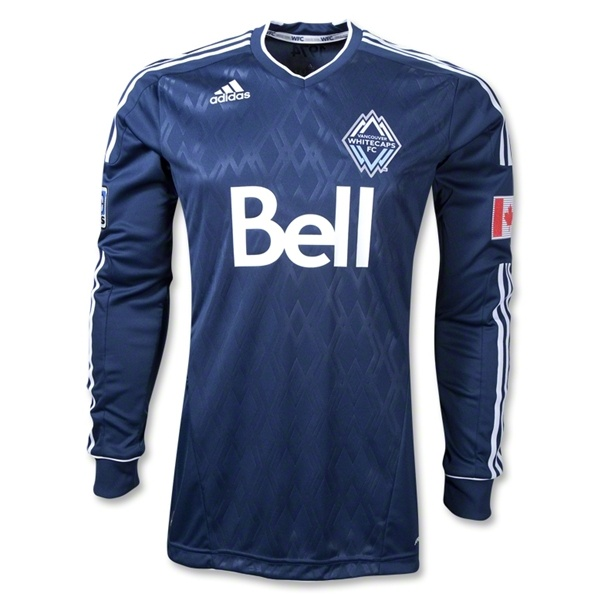 Vancouver Whitecaps FC 2012 Long Sleeve Away Authentic Soccer Jersey