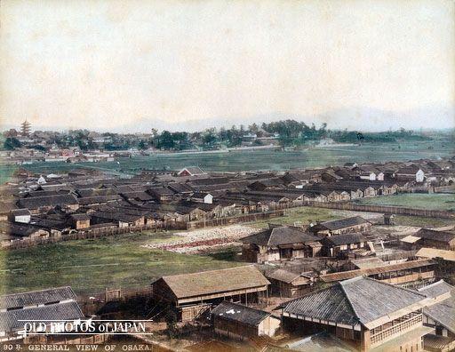 天王寺の眺め 1880年代の大阪