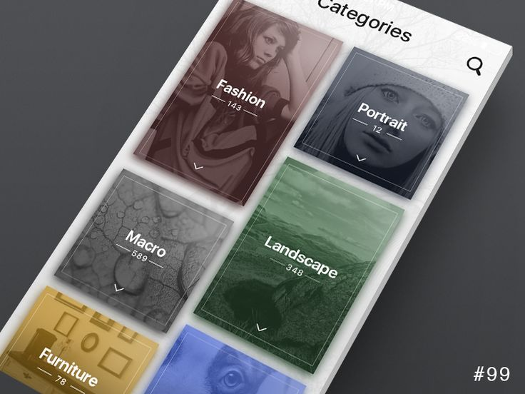 DailyUI design - Categories