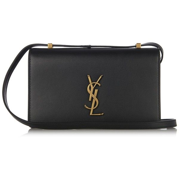 Saint Laurent Dylan leather cross-body bag (12.220 NOK) ❤ liked on Polyvore featuring bags, handbags, shoulder bags, black, monogrammed crossbody purse, leather crossbody, crossbody handbag, leather crossbody purses and yves saint laurent handbags