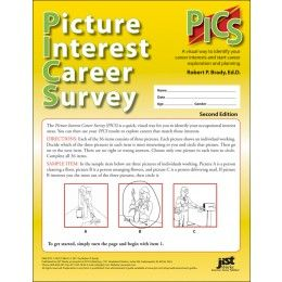 Now there is an easy way for people with limited reading ability or special needs to explore their career interests and find a job that fits. The Picture Interest Career Survey (PICS) is a quick way for people to identify occupational interests by using pictures of people at work rather than text-based items.