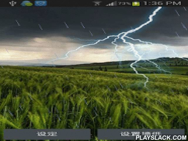 Prairie Lightning FLW (PRO)  Android App - playslack.com , Prairie Lightning Live Wallpaper FREE (PRO):This is a free application. It is about the prairie lightning live wallpaper. For this wallpaper, you can enjoy the amazing thunderstorm display in your phone screen. And it would also display the rain. And when you click the phone screen, you can notice that the thunderstorm would appear. How a true live wallpaper. Hope you will like it. Thanks. For this HD Lightning Live Wallpaper we've…
