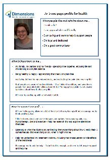 Jo uses her one-page profile to direct the support around her long term health condition. Read it in full here: http://onepageprofiles.files.wordpress.com/2013/11/31-jo-greenbanks-one-page-profile-from-jo-greenbank.pdf