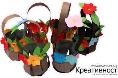 Krokotak's paperEaster basket via The Crafty Crow