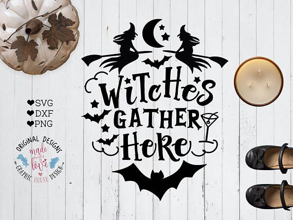 Halloween SVG Halloween Cut File in SVG dxf PNG version. Switches Gather Here Cut File and Printable...