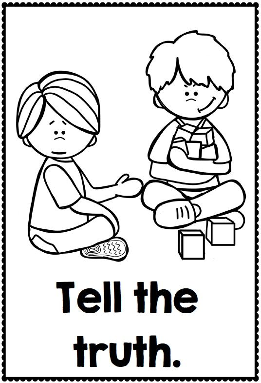 preschool good manners coloring pages - photo#12