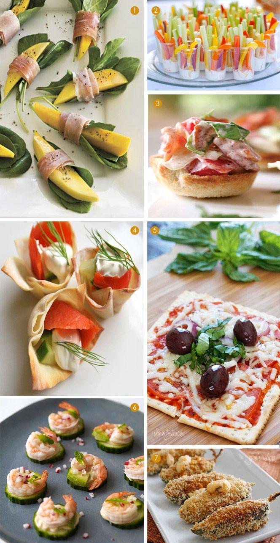 Healthy Mini Appetizers - Wrapped Mango Bites, Veggie Apps, Bite-Size BLTs + more @Exquisite Weddings