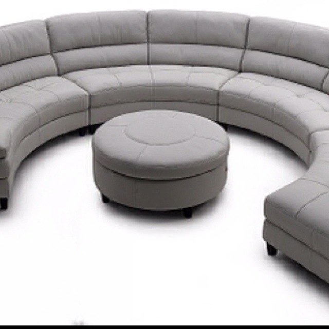 Our New 1 2 Circle Sofa And Ottoman Delivery Wednesday For The Home Pinterest Circles