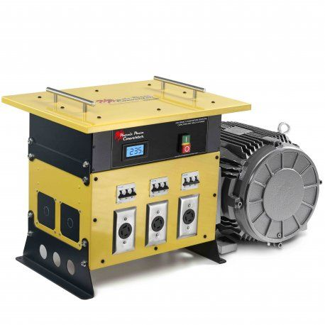 Shop 3 phase converter from top distributors of high quality phase converters providing three phase power from single phase lines at a fraction of installing cost of three phase equipment in your machinery.