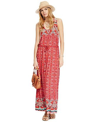 Abstract Print Maxi Dress | M&S