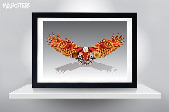EAGLE COLORFUL POSTER   Wall Art Print Poster от MixPosters