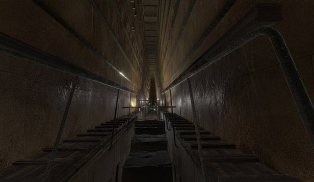 Scientists with ScanPyramids found what seems to be a large void right above the granite-walled Grand Gallery (shown here) in the Great Pyramid.The Great Pyramid, also known as Khufu's pyramid, was built during that pharaoh's reign between 2509 B.C. and 2483 B.C. No new rooms or passages have been confirmed inside the pyramid since the 1800s.