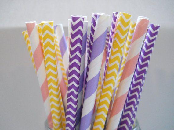 Raiponce - Bande pailles de papier - papier Party paillettes - Qté 25 - parti emmêlé - princesse parti