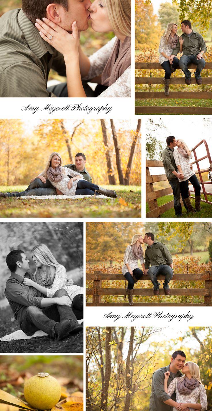 St Louis Wedding Photographer   Amy Meyerott Photography  Chandler Hill Winery   Fall Engagement