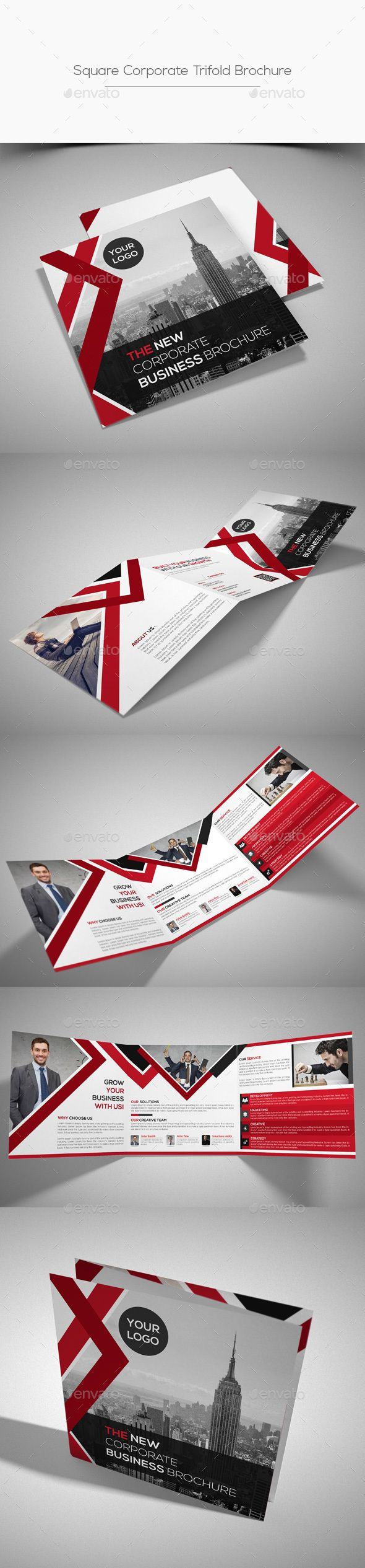 Square Corporate Trifold Brochure Template PSD #design Download: http://graphicriver.net/item/square-corporate-trifold-brochure/13683819?ref=ksioks