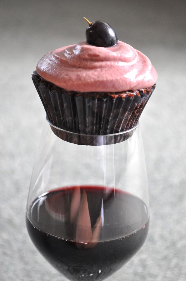 cupcake made of chocolate and red wine...pure perfection!