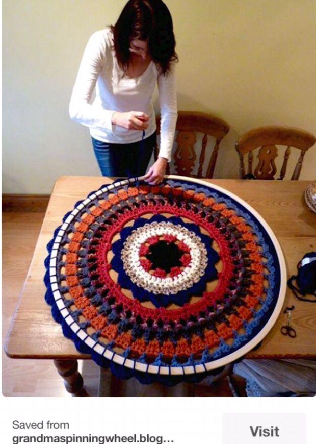Mount an over-sized mandala in a hula hoop. CROCHET WALL ART – DaniellaJoe's Blog