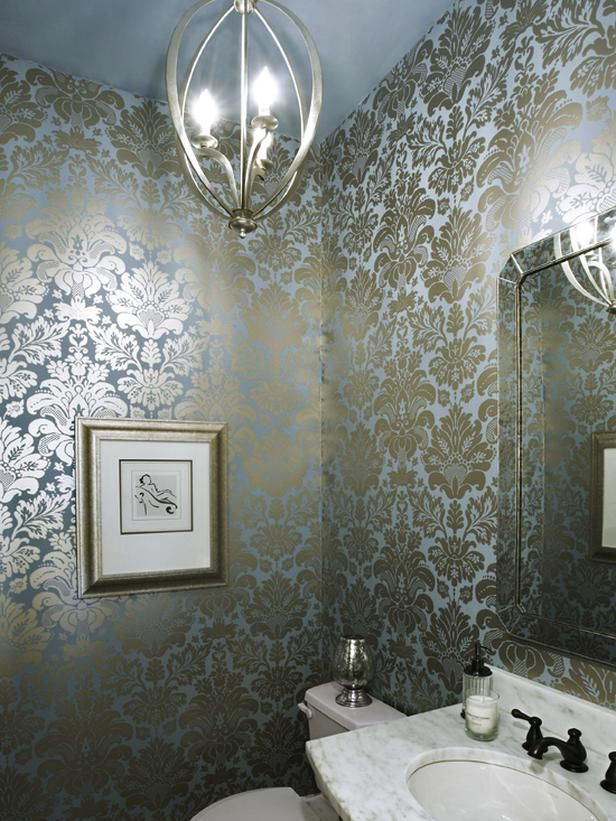 Blue Fleur De Lis Wallpaper Design Decor Pinterest