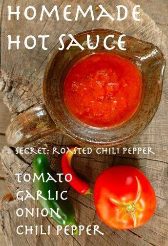 Homemade hot sauce | Hot Sauce Recipes | Pinterest
