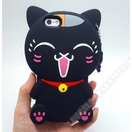 Carcasa 3D divertida diseño Gato para mi móvil iPhone 7