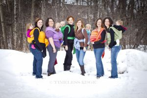 The babywearing lovelies of the Canadian Babywearing School KNOW COLD... what are their tips for wearing your baby when it's colder than Siberia?