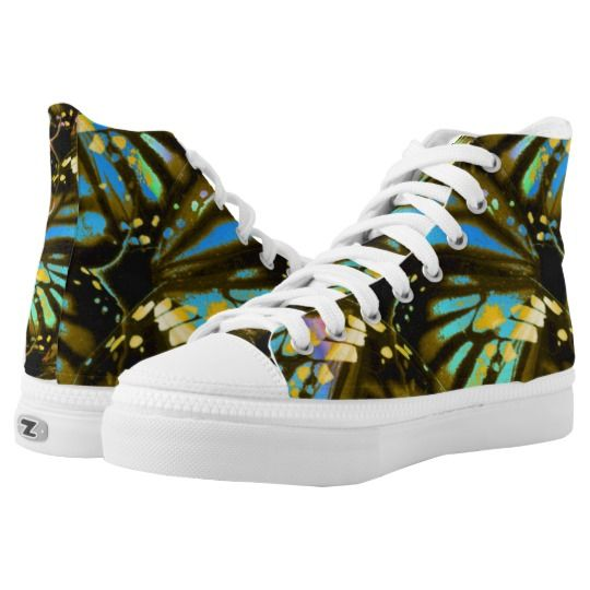 Rainbow Butterfly Wings High-Top Sneakers