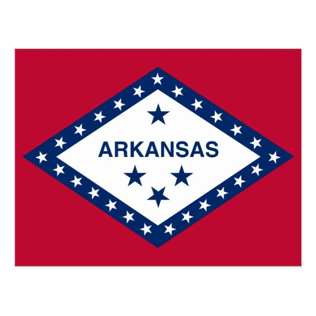 Arkansas State Flag Postcard Zazzle Com Template Flag