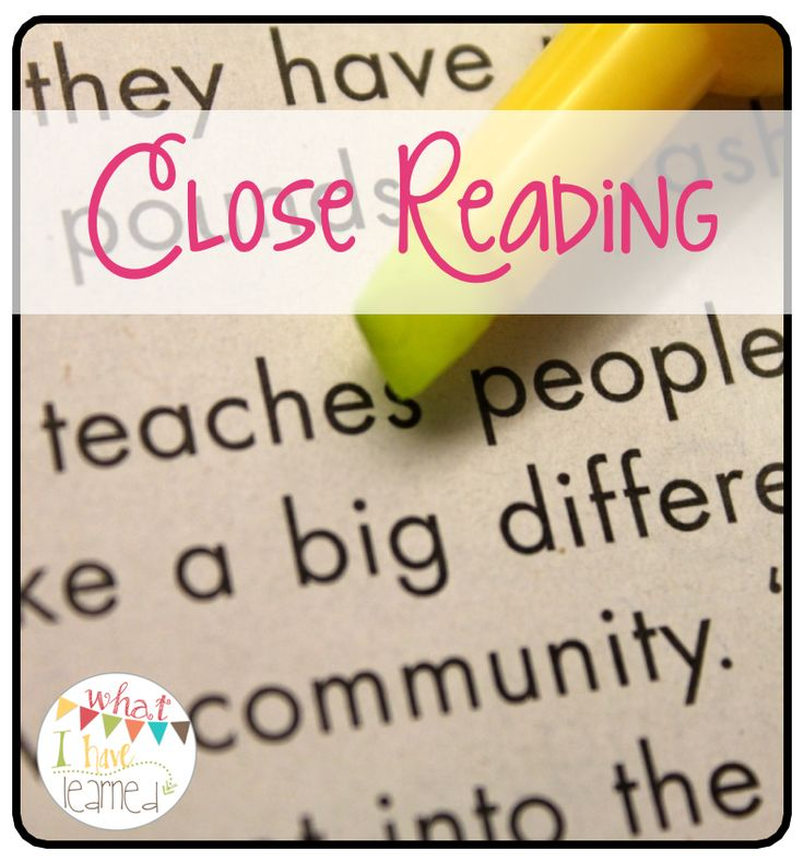 Who's Who and Who's New: Close Reading; close reading resources, suggestions, article resources