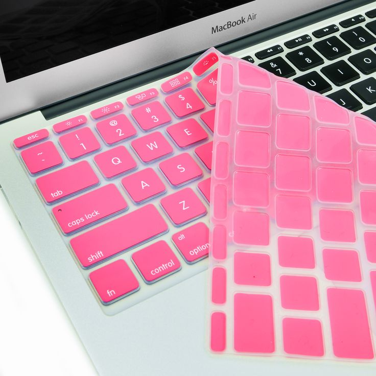 "Hot Pink Keyboard Silicone Cover Skin for New Macbook Air 11"" Model: A1465"