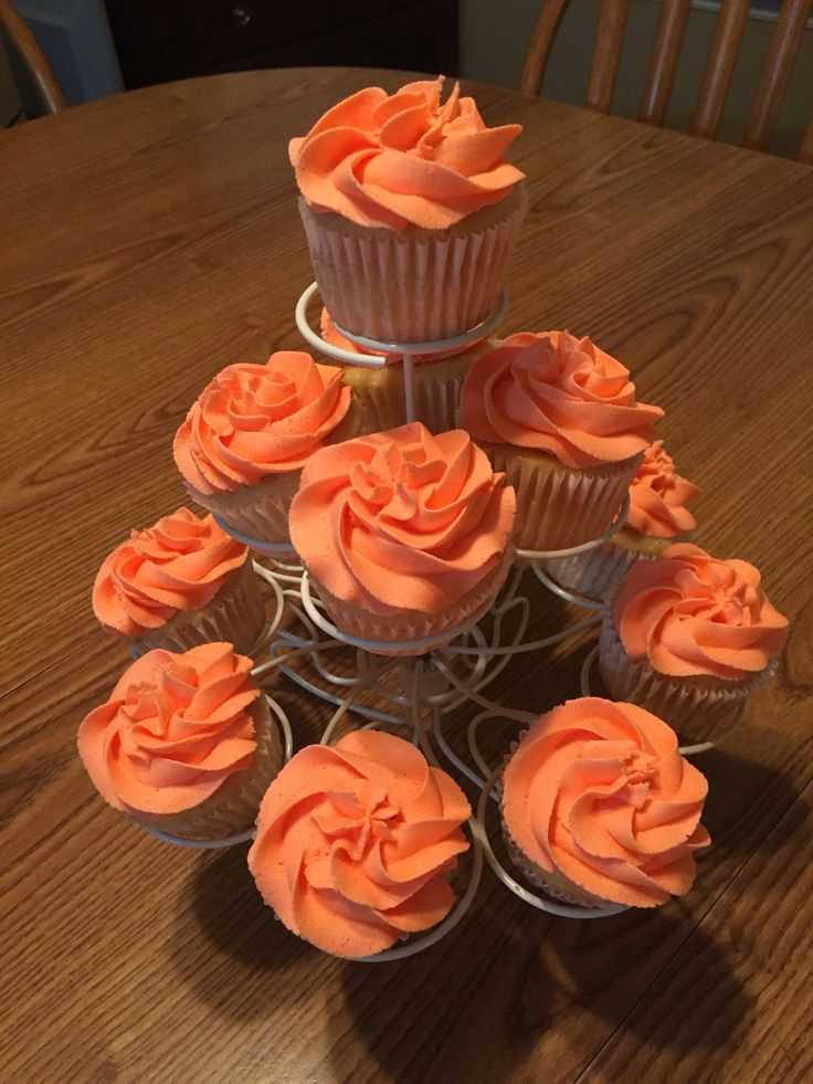 Coral Cupcakes Celebrating 35th Anniversary