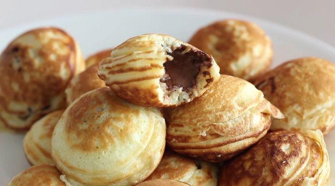 mini pancakes ripieni di Nutella
