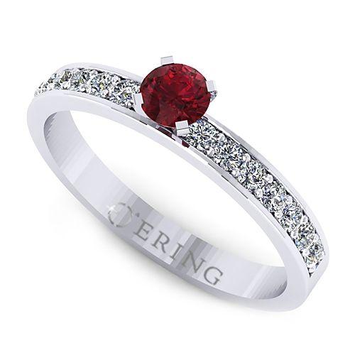 Inel cu diamante L74ARB inel cu diamant si rubin