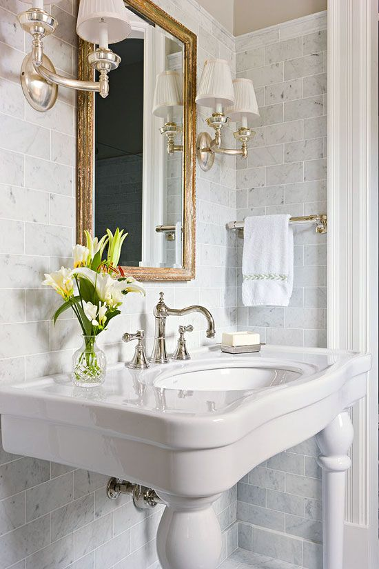 Powder rooms a collection of ideas to try about home for Romantic master bathroom