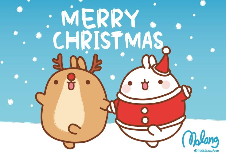 San-X Molang Christmas Desktop Wallpapers - Here are 3 super cute Molang Desktop Backgrounds for Christmas! Click each image to be taken to the full size wallpaper :)     Molang and a cute ... -  #Molang