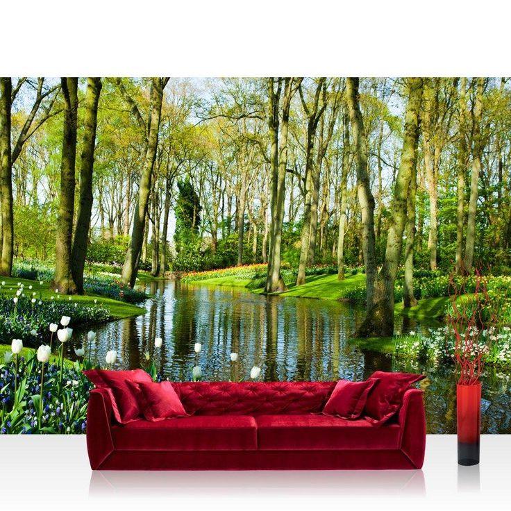 Vlies Fototapete Premium Natur Wald Wasser