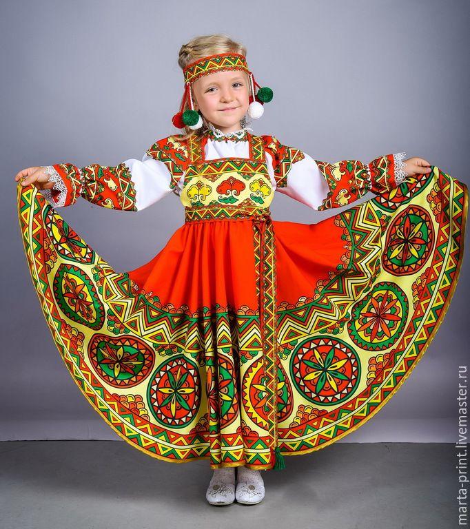 Купить Смоленский гусачок Сарафан и рубашка для девочки - смоленский гусачок, русский костюм