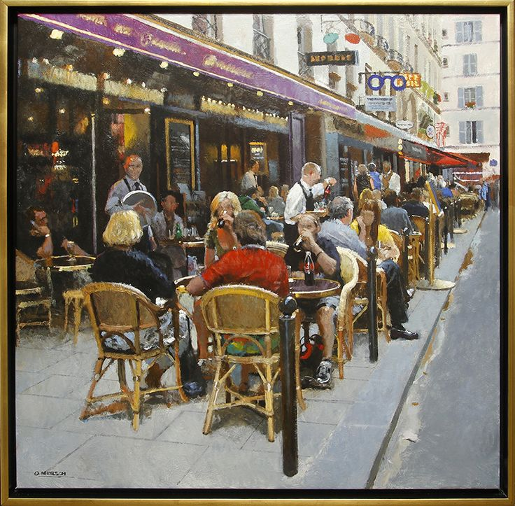 Cafe in Paris, a Summer day