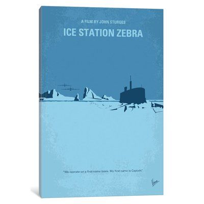 """East Urban Home 'Ice Station Zebra' Graphic Art Print on Canvas Size: 26"""" H x 18"""" W x 1.5"""" D"""