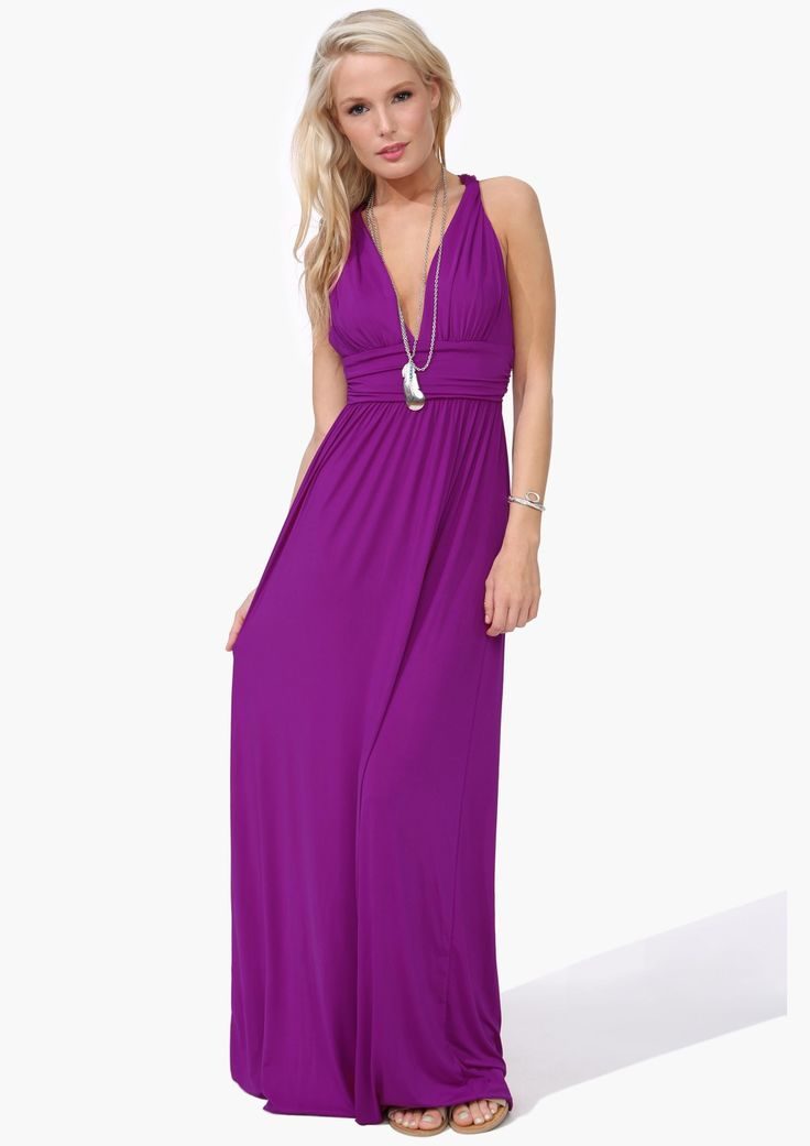 Beautiful purple maxi dress.